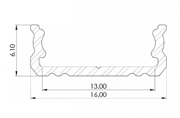 led profiel 16mm