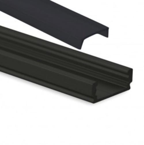zwart led profiel zwarte cover