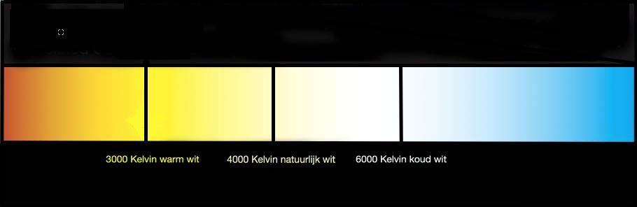 kleuren temperatuur kelvin led verlichting 7