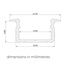 16mm inbouw led profiel