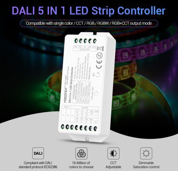 MIBOXER DALI LED controller DALI 5 in 1 LED strip controller