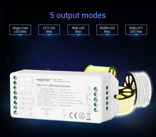 MIBOXER DALI LED controller DALI 5 in 1 LED strip controllers