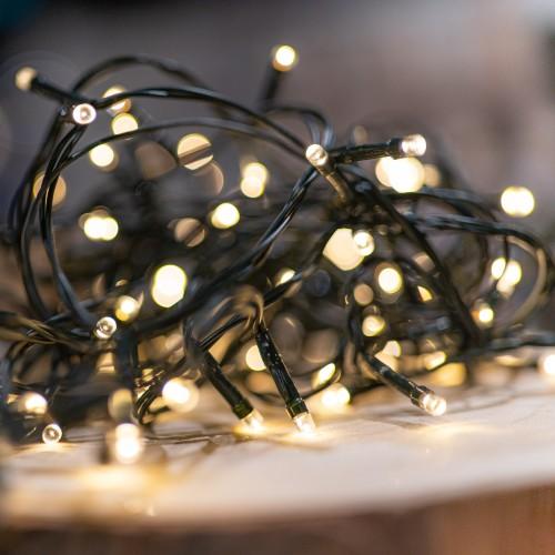 Warm witte kerstlampjes batterij